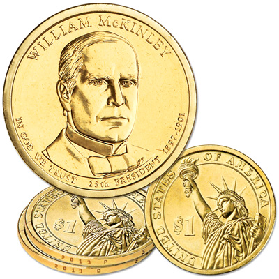 Image for 2013 P&D William McKinley Presidential Dollar Set from Littleton Coin Company