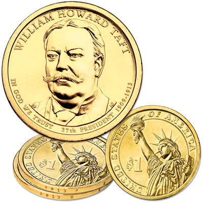 Image for 2013 P&D William Howard Taft Presidential Dollar Set from Littleton Coin Company