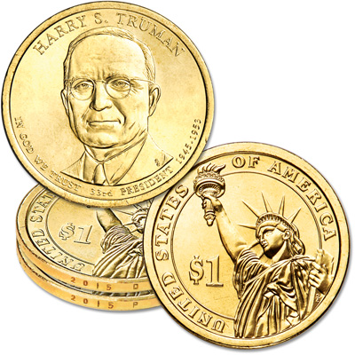 Image for 2015 P&D Harry S. Truman Presidential Dollar Set from Littleton Coin Company