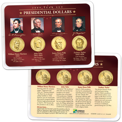 Image for 2009 Presidential Dollar Year Set in Showpak (4 coins), Uncirculated, MS60 from Littleton Coin Company