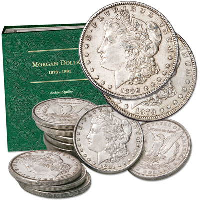 Image for 1879-1890 Consecutive Date Morgan Dollar Set with Album from Littleton Coin Company