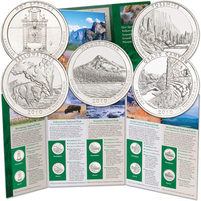 Image for 2010 P&D National Park Quarter Set (10 coins) with Folder from Littleton Coin Company
