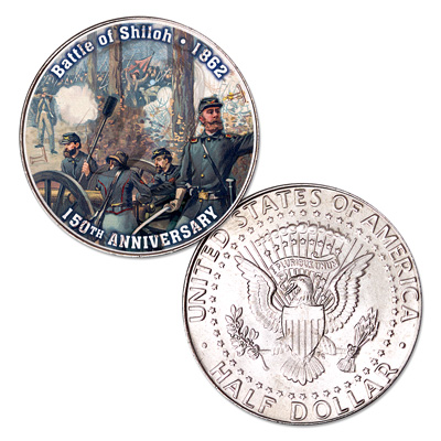 Image for 2012 Colorized Civil War Kennedy Half Dollar Battle of Shiloh from Littleton Coin Company
