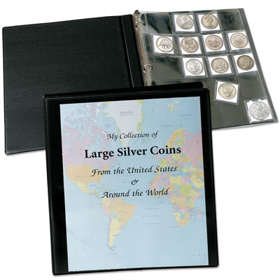 Image for Deluxe Coin Pages with View Binder (includes 100 SAFLIPS holders) from Littleton Coin Company