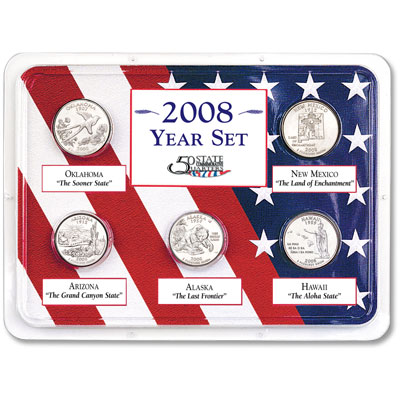 Image for 2008 Statehood Quarter Year Set in Showpak from Littleton Coin Company