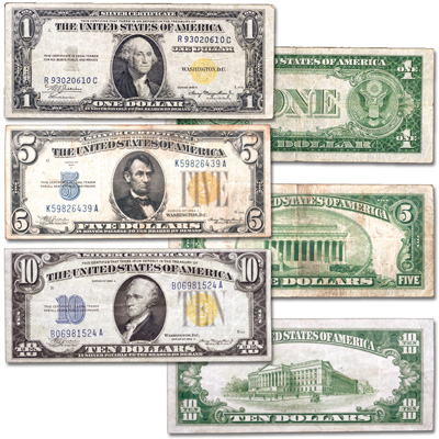 Image for 1934-1935 WWII Emergency Silver Certificate Set from Littleton Coin Company