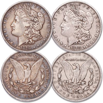 Image for 1878 7 Tail Feather 2nd & 3rd Reverse Morgan Dollar Set from Littleton Coin Company
