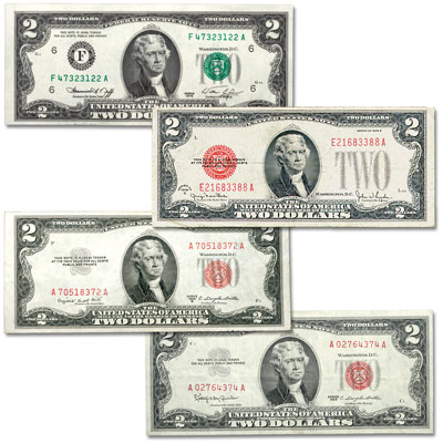 Image for 1928-1976 Complete Small-Size $2 Note Type Set from Littleton Coin Company