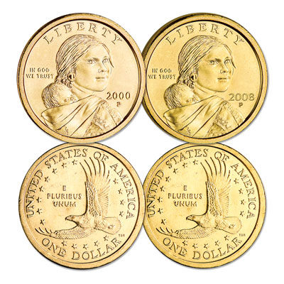 Image for 2000-2008 Sacagawea Set (9 coins) from Littleton Coin Company