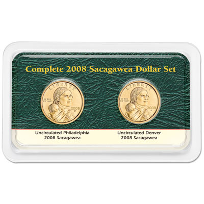Image for 2008 P&D Sacagawea Dollar Showpak from Littleton Coin Company