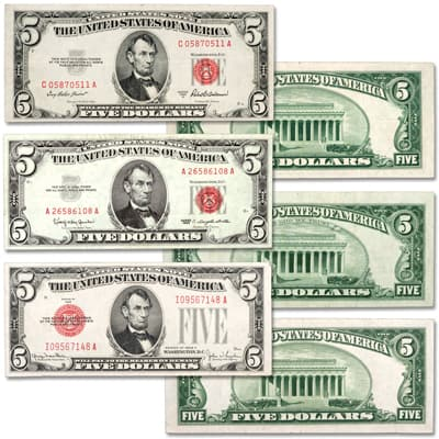 Image for 1928-1963 $5 Legal Tender Note Set from Littleton Coin Company