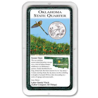 Image for 2008 Oklahoma Statehood Quarter in Littleton's Exclusive Showpak®, Uncirculated from Littleton Coin Company