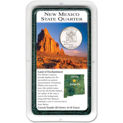 Image for 2008 New Mexico Statehood Quarter in Exclusive Showpak, Uncirculated from Littleton Coin Company