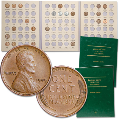 Image for 1909-1955 Lincoln Cent Collection with 2 Folders from Littleton Coin Company