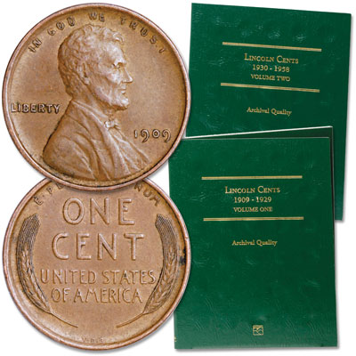 Image for 1909-1955 Lincoln Cent Collection with Folders from Littleton Coin Company