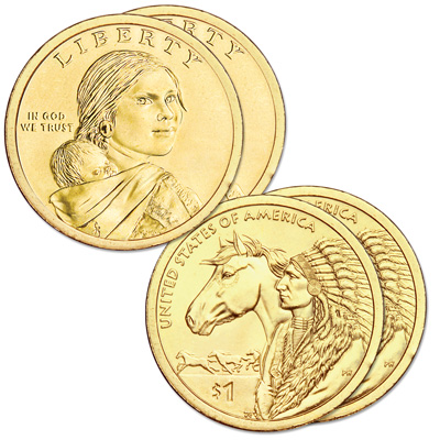 Image for 2012 P&D Native American Dollar Set from Littleton Coin Company