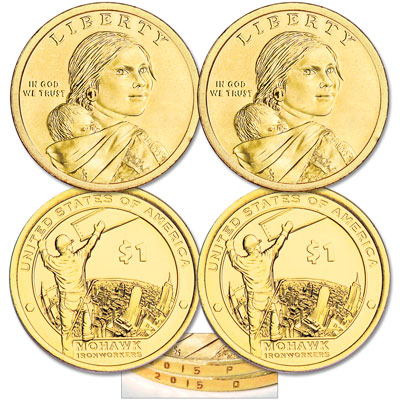 Image for 2015 P&D Native American Dollar Set from Littleton Coin Company