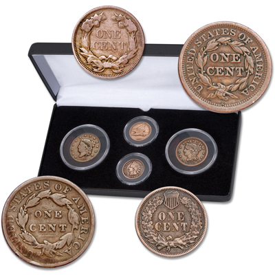 Image for Early Cent Type Set (4 coins) from Littleton Coin Company