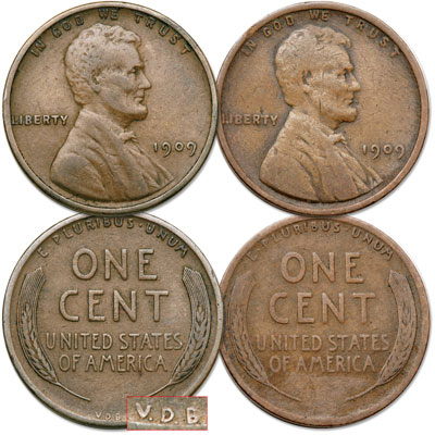 Image for 1909 V.D.B. & 1909 Lincoln Cent Set from Littleton Coin Company
