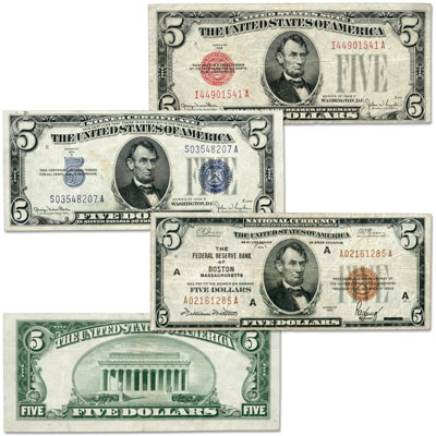 Image for Series 1928-1934 $5 Small-Size Note Type Set, Fine from Littleton Coin Company