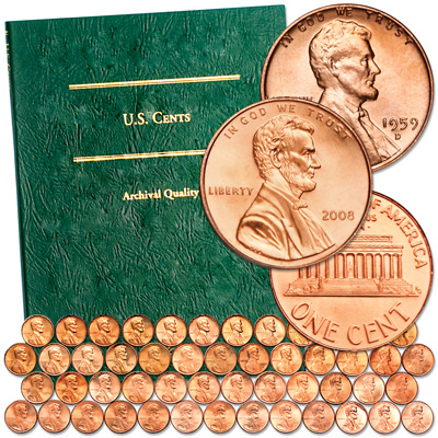 Image for 1959-2008 Memorial Reverse Lincoln Head Cent Set from Littleton Coin Company