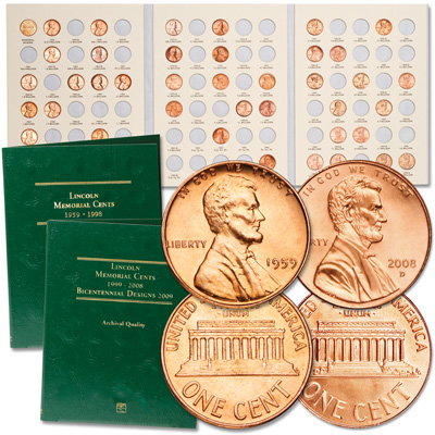Image for 1959-2008 Complete Year Set of Lincoln Memorial Cents from Littleton Coin Company