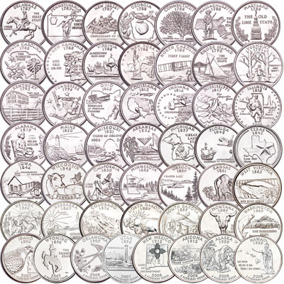 Image for 1999-2008 Statehood Quarter Set (50 coins) from Littleton Coin Company