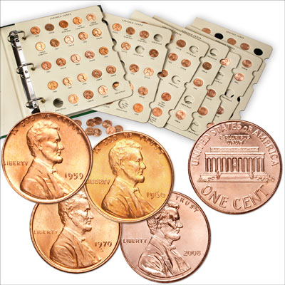 Image for 1959-2008 Complete Lincoln Memorial Cent Set from Littleton Coin Company