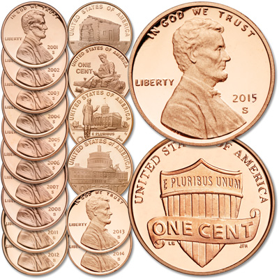 Image for 2001-2015 21st-Century Lincloln Cent Set from Littleton Coin Company