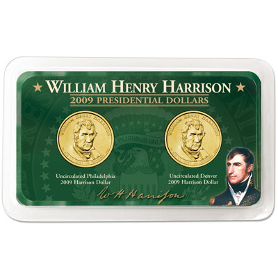 Image for 2009 P&D Harrison Presidential Dollar in Showpak, Uncirculated, MS60 from Littleton Coin Company