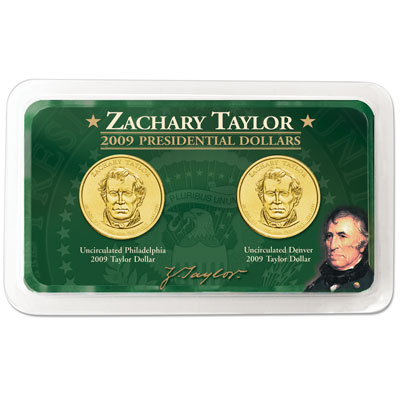 Image for 2009 P&D Zachary Taylor Presidential Dollar in Showpak, Uncirculated, MS60 from Littleton Coin Company