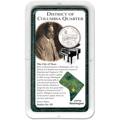 Image for 2009 District of Columbia Quarter in Showpak, Uncirculated, MS60 from Littleton Coin Company