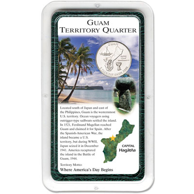 Image for 2009 Guam Territories Quarter in Showpak, Uncirculated, MS60 from Littleton Coin Company