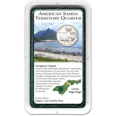 Image for 2009 American Samoa Territories Quarter in Showpak from Littleton Coin Company