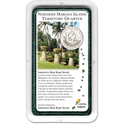 Image for 2009 Northern Mariana Islands Territories Quarter in Showpak, Uncirculated, MS60 from Littleton Coin Company