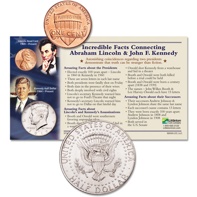 Image for 2017 Lincoln & Kennedy Incredible Facts Set from Littleton Coin Company