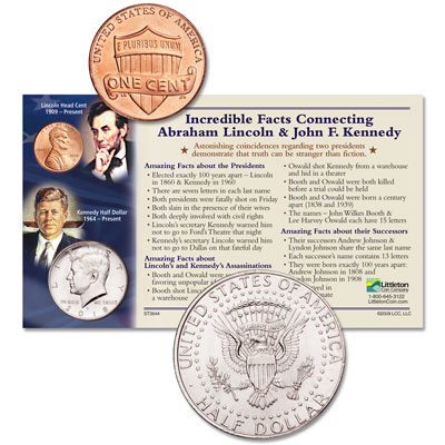 Image for 2018 Lincoln & Kennedy Incredible Facts Set from Littleton Coin Company