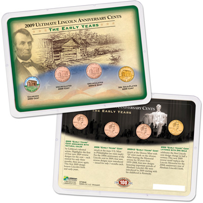 Image for 2009 Ultimate Lincoln Early Years Cent Reverse Showpak from Littleton Coin Company