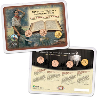 Image for 2009 Ultimate Lincoln Formative Years Cent Reverse Showpak from Littleton Coin Company