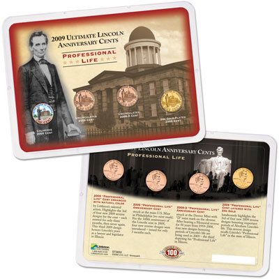 Image for 2009 Ultimate Lincoln Professional Life Cent Reverse Showpak from Littleton Coin Company