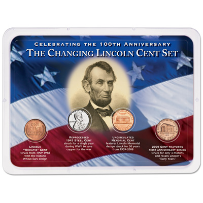 Image for Changing Lincoln Head Cent Showpak (4 coins) from Littleton Coin Company