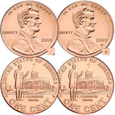 Image for 2009 P&D Lincoln Professional Life Cents, Uncirculated, MS60 from Littleton Coin Company