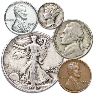 Image for 1941-1945 WWII Coin Collection (5 coins) from Littleton Coin Company