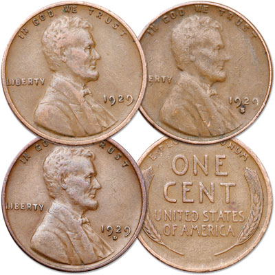 Image for 1929 PDS Lincoln Head Cent Set, Circulated from Littleton Coin Company