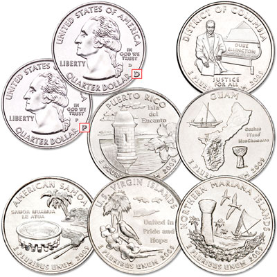 Image for 2009 P&D D.C. & U.S. Territories Quarter Set from Littleton Coin Company