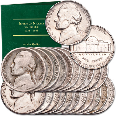 Image for 1942-1962 Jefferson Nickel Set with Folder from Littleton Coin Company