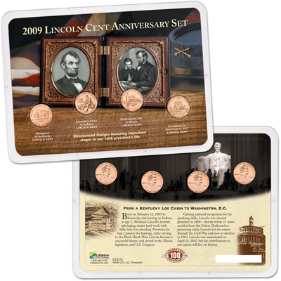 Image for 2009 Lincoln Cent Anniversary Showpak from Littleton Coin Company