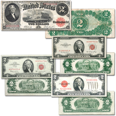 Image for 1917-1963 $2 Legal Tender Note Set from Littleton Coin Company