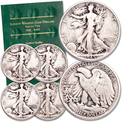 Image for 1941-1945 Liberty Walking Half Dollar Set with Folder from Littleton Coin Company