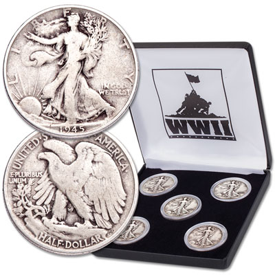Image for 1941-1945 Liberty Walking Half Dollar Set from Littleton Coin Company